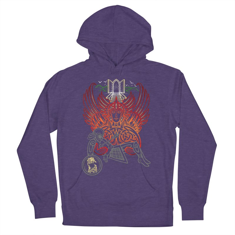 """Valkyrie, """"Chooser of the Slain"""" Men's French Terry Pullover Hoody by Celtic Hammer Club"""