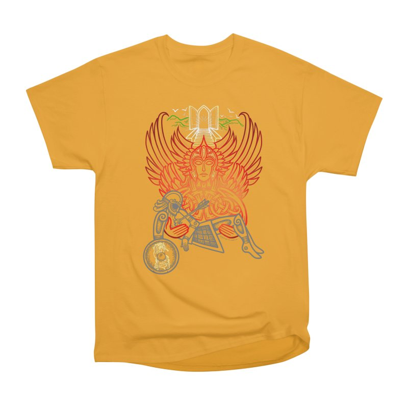 "Valkyrie, ""Chooser of the Slain"" Men's Heavyweight T-Shirt by Celtic Hammer Club"