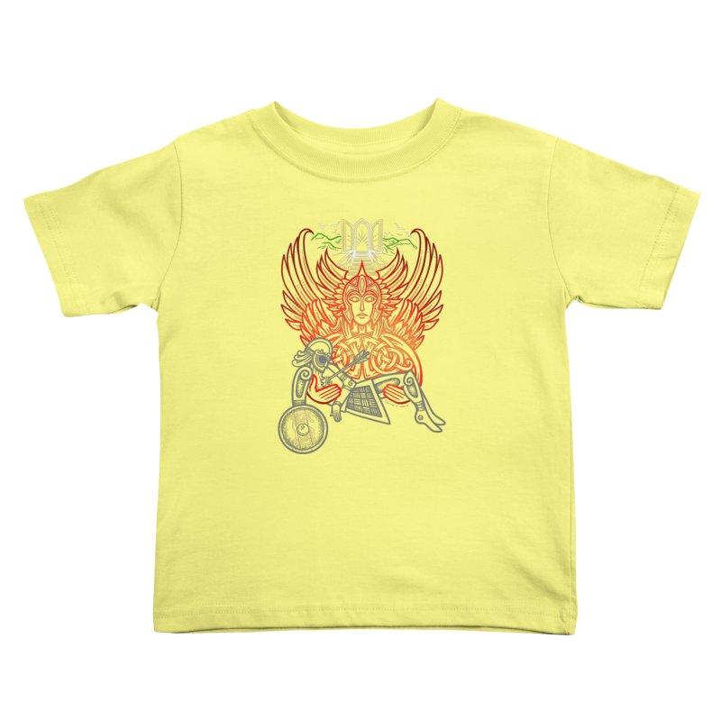 "Valkyrie, ""Chooser of the Slain"" Kids Toddler T-Shirt by Celtic Hammer Club"