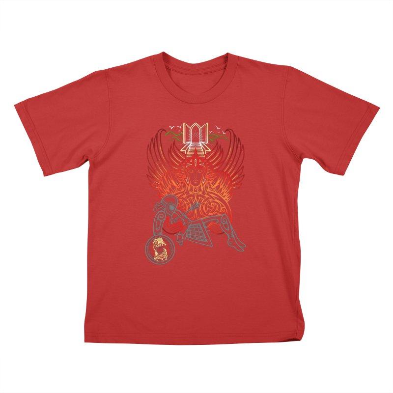 "Valkyrie, ""Chooser of the Slain"" Kids T-Shirt by Celtic Hammer Club"
