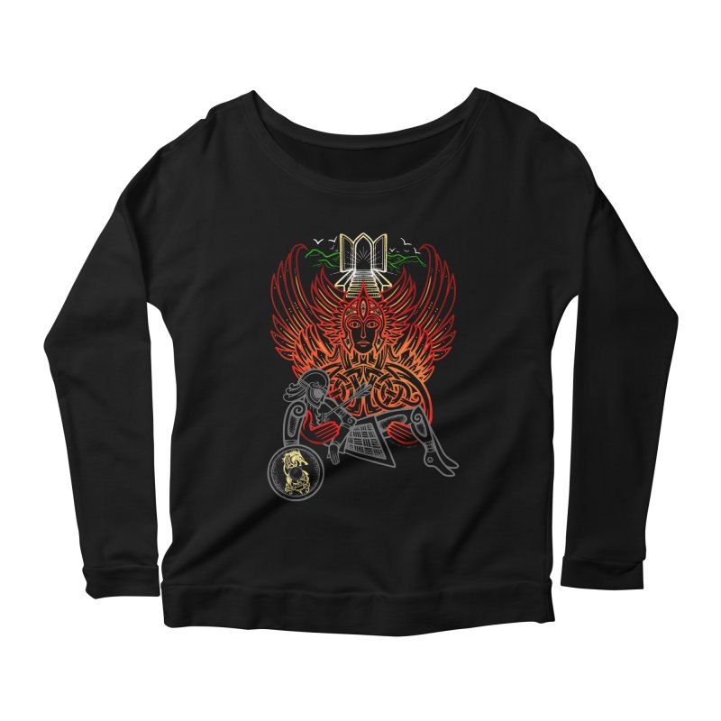 "Valkyrie, ""Chooser of the Slain"" Women's Scoop Neck Longsleeve T-Shirt by Celtic Hammer Club"