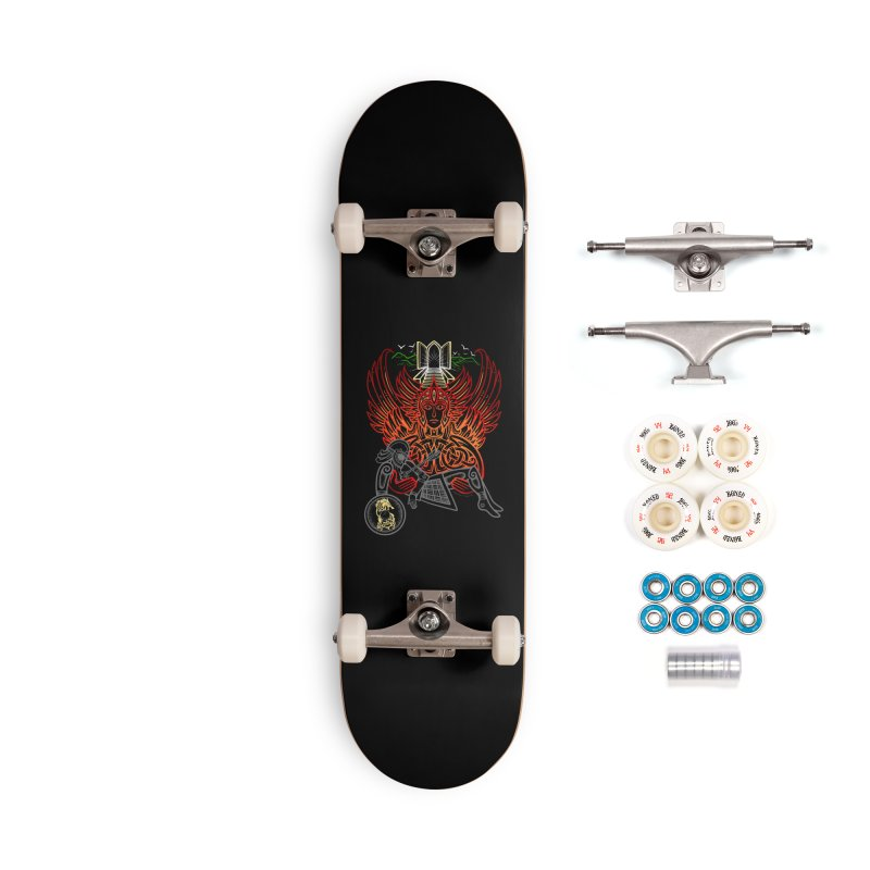 """Valkyrie, """"Chooser of the Slain"""" Accessories Complete - Premium Skateboard by Celtic Hammer Club"""