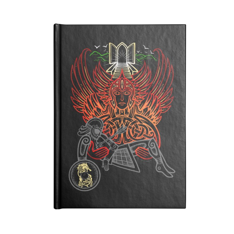 """Valkyrie, """"Chooser of the Slain"""" Accessories Lined Journal Notebook by Celtic Hammer Club"""