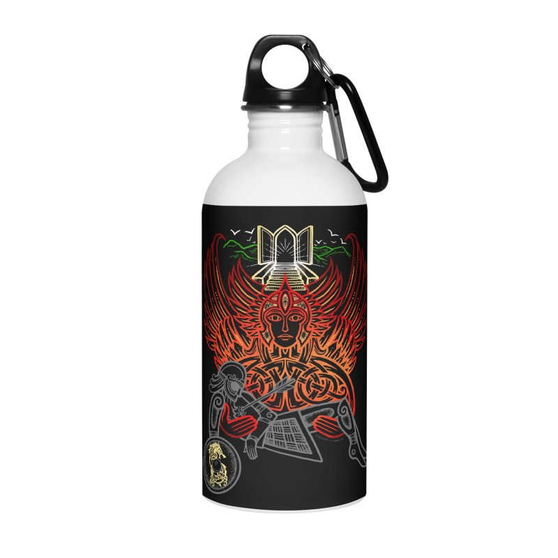 "Valkyrie, ""Chooser of the Slain"" Accessories Water Bottle by Celtic Hammer Club"