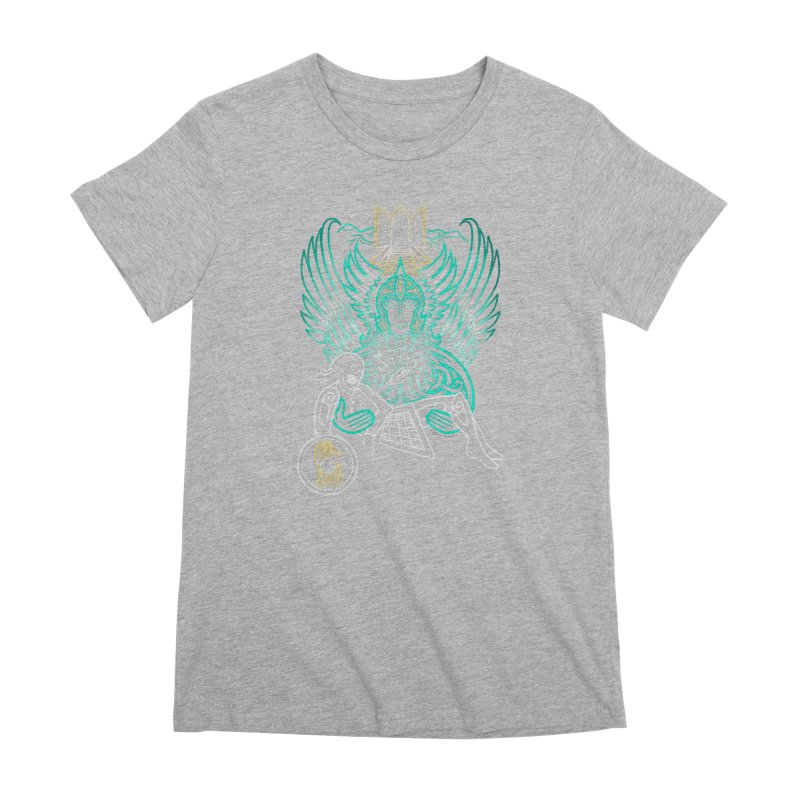 "Valkyrie, ""Chooser of the Slain"" Women's Premium T-Shirt by Celtic Hammer Club"