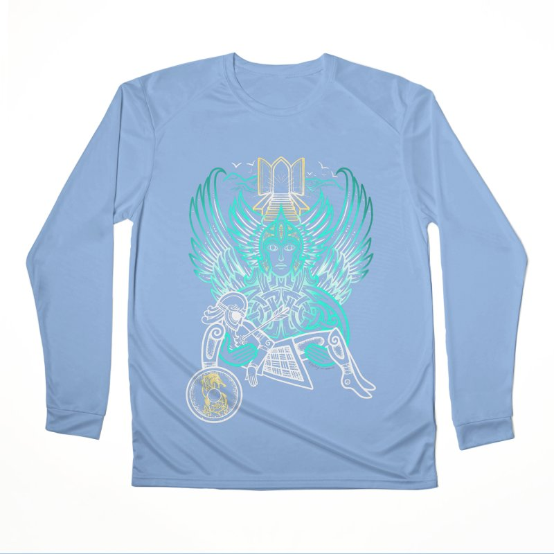 "Valkyrie, ""Chooser of the Slain"" Men's Performance Longsleeve T-Shirt by Celtic Hammer Club"