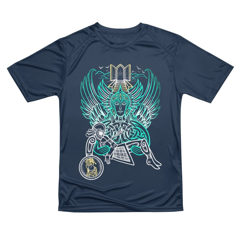 "Valkyrie, ""Chooser of the Slain"" Men's Performance T-Shirt by Celtic Hammer Club"