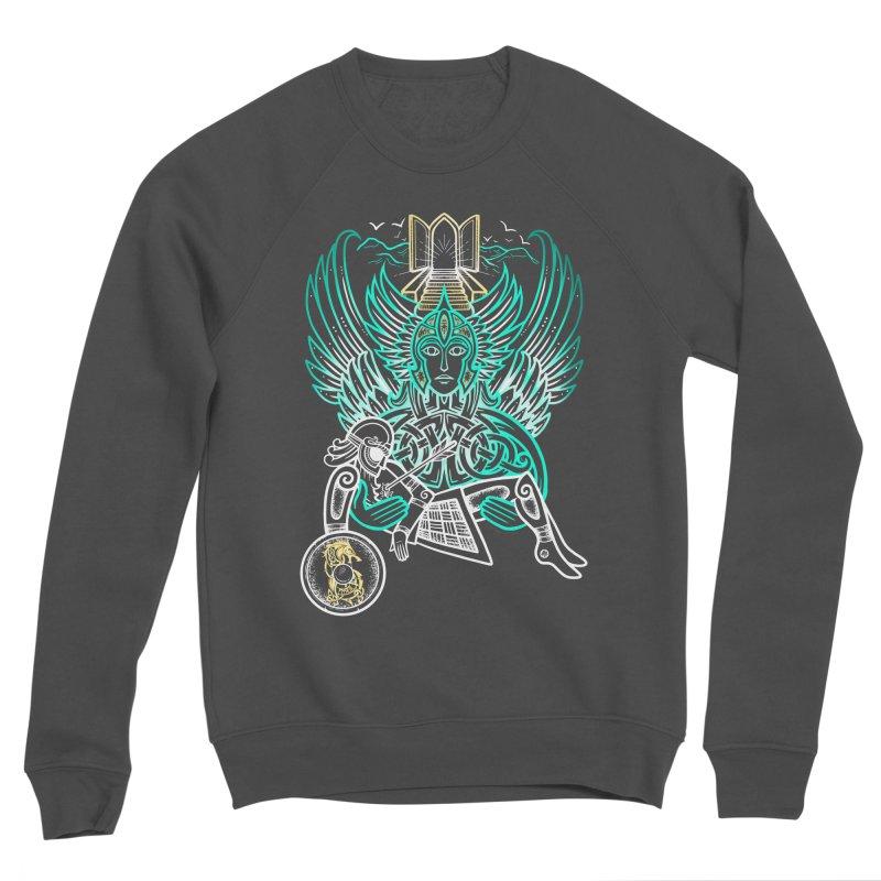 "Valkyrie, ""Chooser of the Slain"" Men's Sponge Fleece Sweatshirt by Celtic Hammer Club"