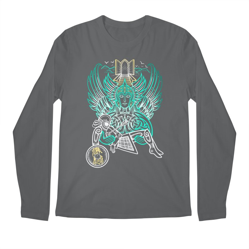 """Valkyrie, """"Chooser of the Slain"""" Men's Longsleeve T-Shirt by Celtic Hammer Club"""