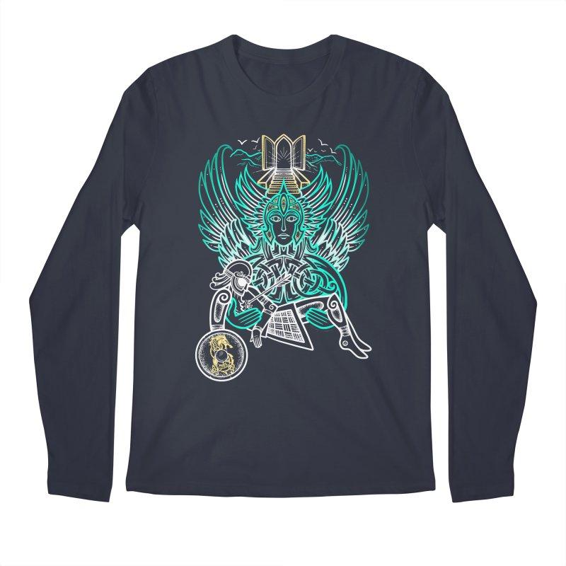 """Valkyrie, """"Chooser of the Slain"""" Men's Regular Longsleeve T-Shirt by Celtic Hammer Club"""
