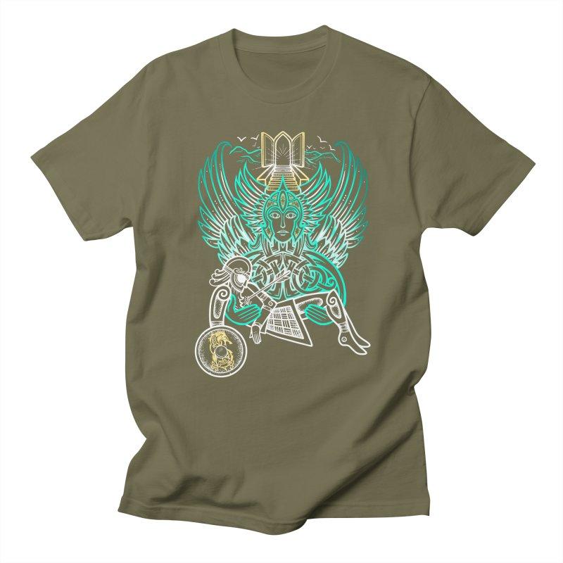 """Valkyrie, """"Chooser of the Slain"""" Men's Regular T-Shirt by Celtic Hammer Club"""