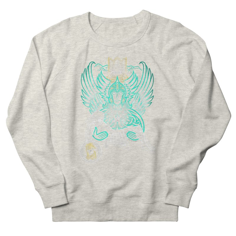 """Valkyrie, """"Chooser of the Slain"""" Women's French Terry Sweatshirt by Celtic Hammer Club"""