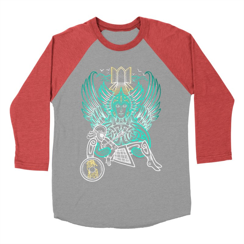 "Valkyrie, ""Chooser of the Slain"" Women's Baseball Triblend Longsleeve T-Shirt by Celtic Hammer Club"