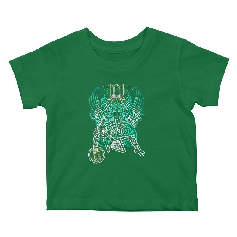 "Valkyrie, ""Chooser of the Slain"" Kids Baby T-Shirt by Celtic Hammer Club"
