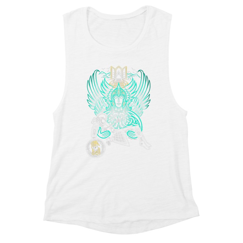 "Valkyrie, ""Chooser of the Slain"" Women's Muscle Tank by Celtic Hammer Club"