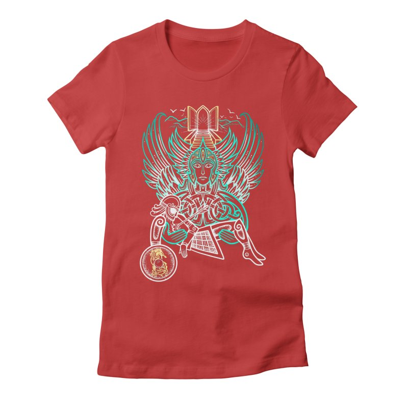 """Valkyrie, """"Chooser of the Slain"""" Women's Fitted T-Shirt by Celtic Hammer Club"""