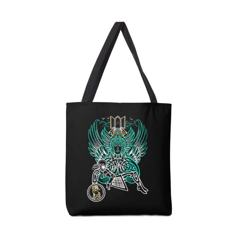"Valkyrie, ""Chooser of the Slain"" Accessories Tote Bag Bag by Celtic Hammer Club"