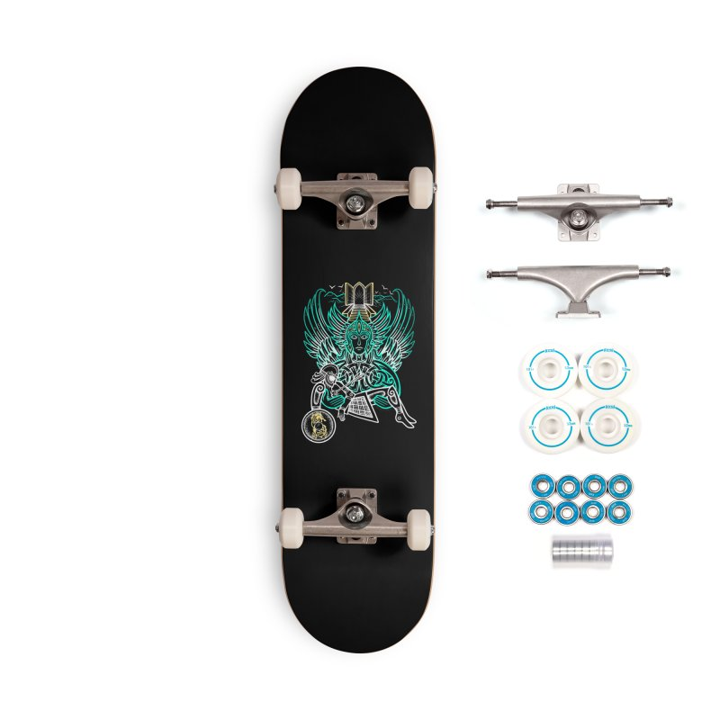 """Valkyrie, """"Chooser of the Slain"""" Accessories Complete - Basic Skateboard by Celtic Hammer Club"""