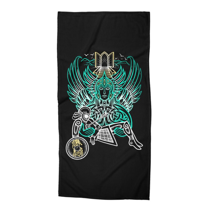 "Valkyrie, ""Chooser of the Slain"" Accessories Beach Towel by Celtic Hammer Club"