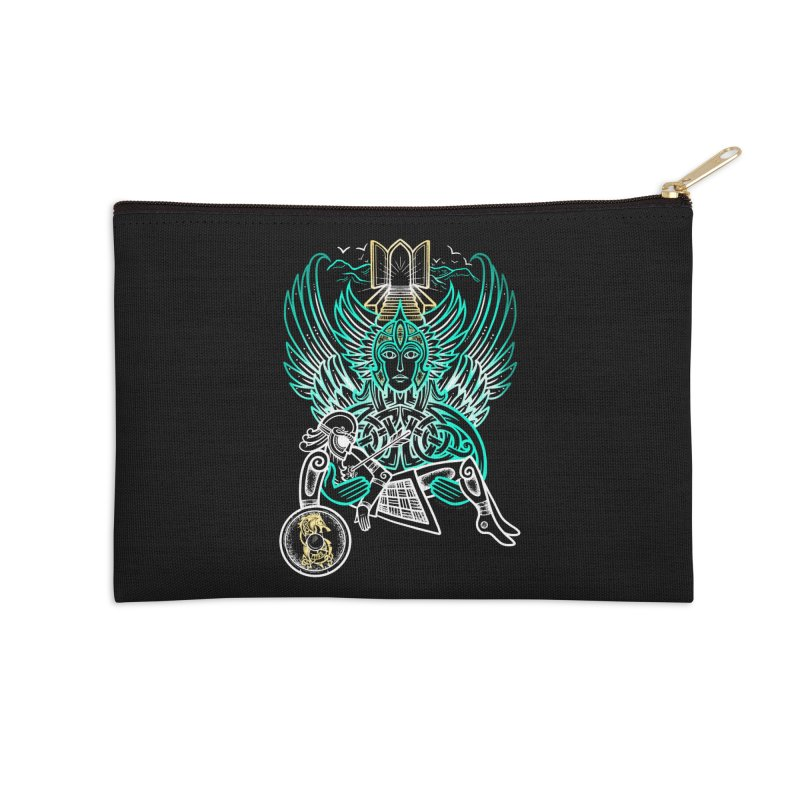 "Valkyrie, ""Chooser of the Slain"" Accessories Zip Pouch by Celtic Hammer Club"