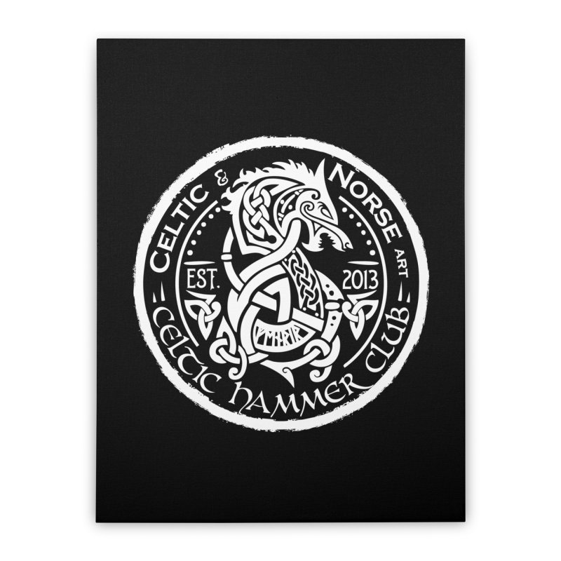 Celtic Hammer Club Badge Logo Home Stretched Canvas by Celtic Hammer Club