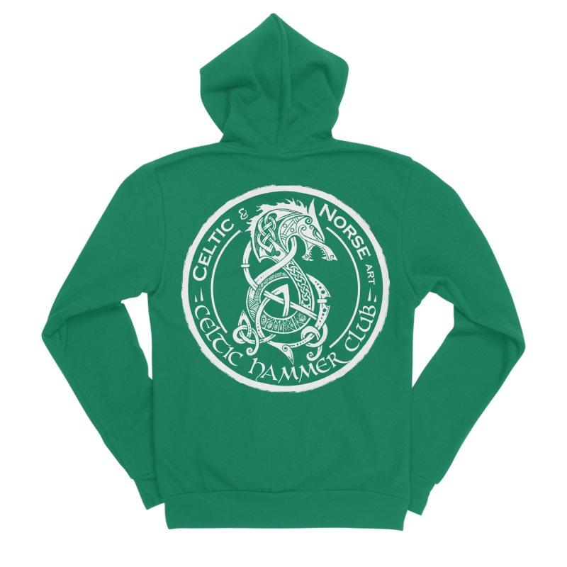 Celtic Hammer Club Badge Logo Men's Sponge Fleece Zip-Up Hoody by Celtic Hammer Club