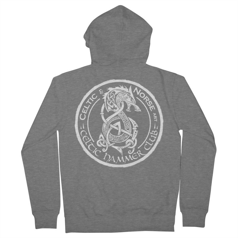 Celtic Hammer Club Badge Logo Women's French Terry Zip-Up Hoody by Celtic Hammer Club