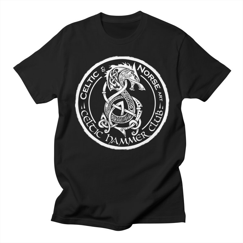 Celtic Hammer Club Badge Logo in Men's Regular T-Shirt Black by Celtic Hammer Club