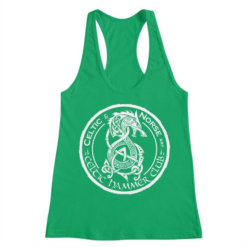 Celtic Hammer Club Badge Logo Women's Racerback Tank by Celtic Hammer Club