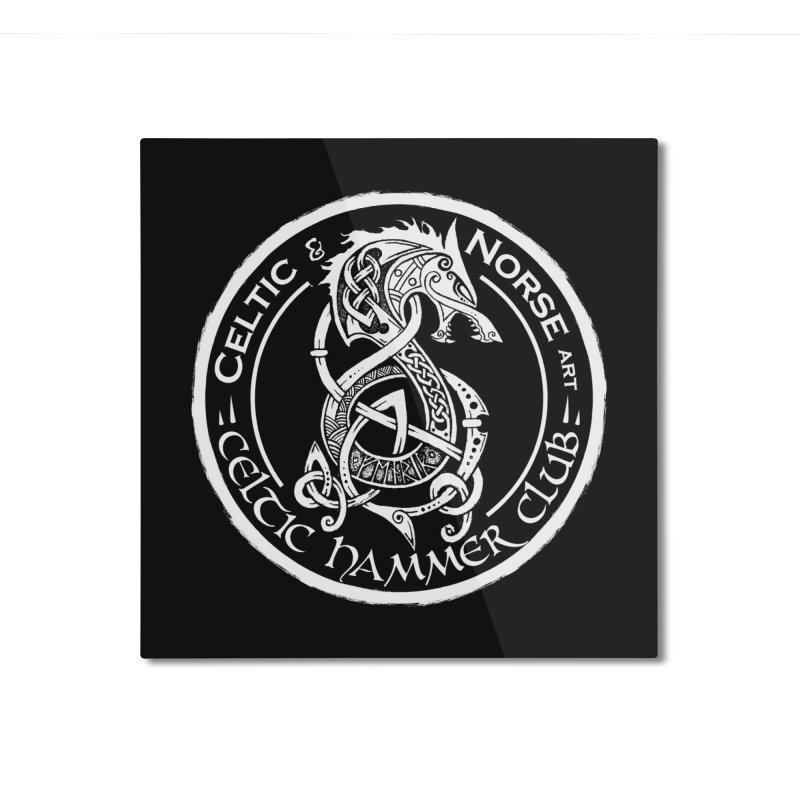 Celtic Hammer Club Badge Logo Home Mounted Aluminum Print by Celtic Hammer Club