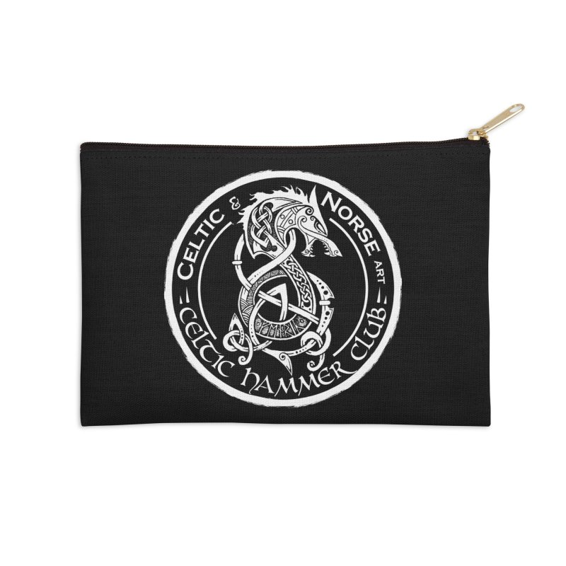 Celtic Hammer Club Badge Logo Accessories Zip Pouch by Celtic Hammer Club