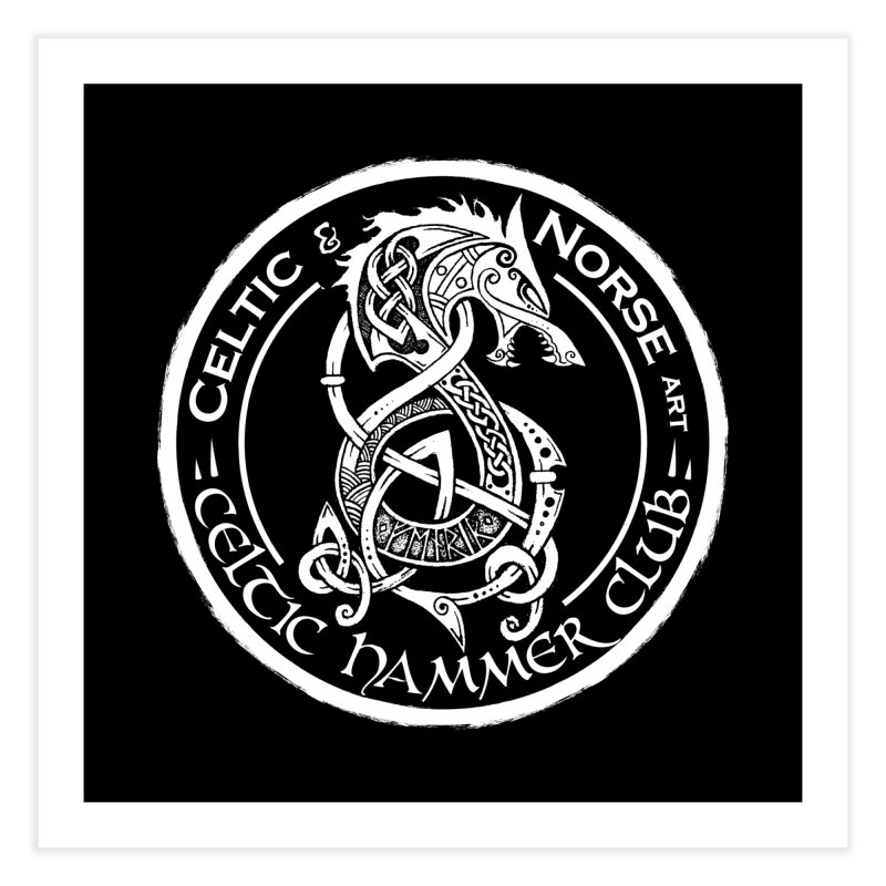 Celtic Hammer Club Badge Logo Home Fine Art Print by Celtic Hammer Club