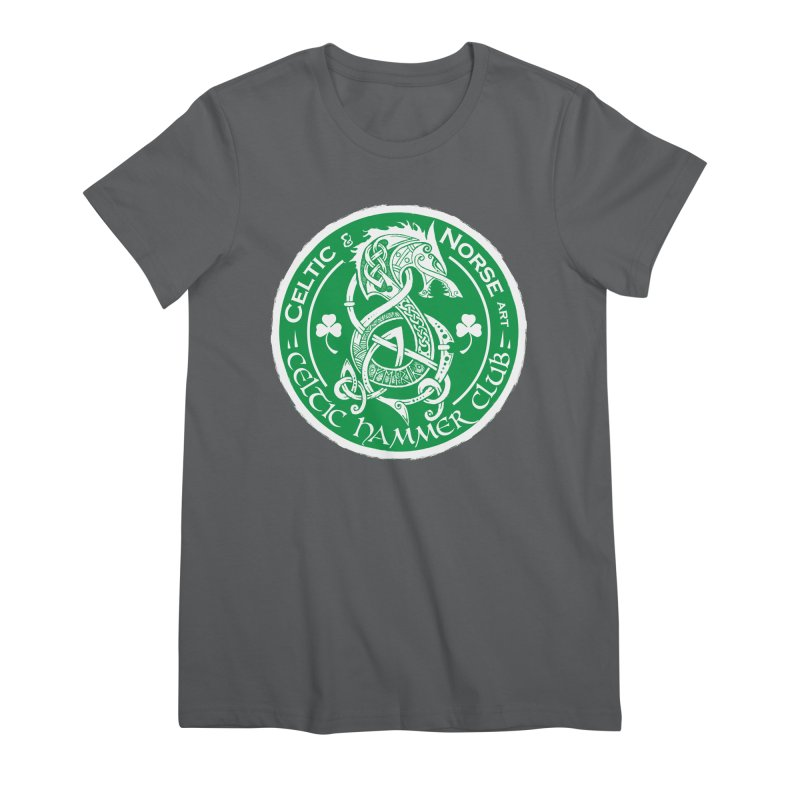 Celtic Hammer Club Irish Badge Logo Women's Premium T-Shirt by Celtic Hammer Club
