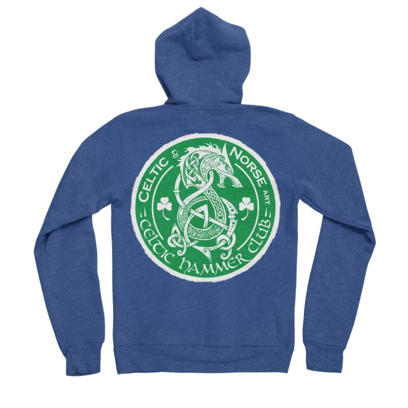 Celtic Hammer Club Irish Badge Logo Men's Sponge Fleece Zip-Up Hoody by Celtic Hammer Club