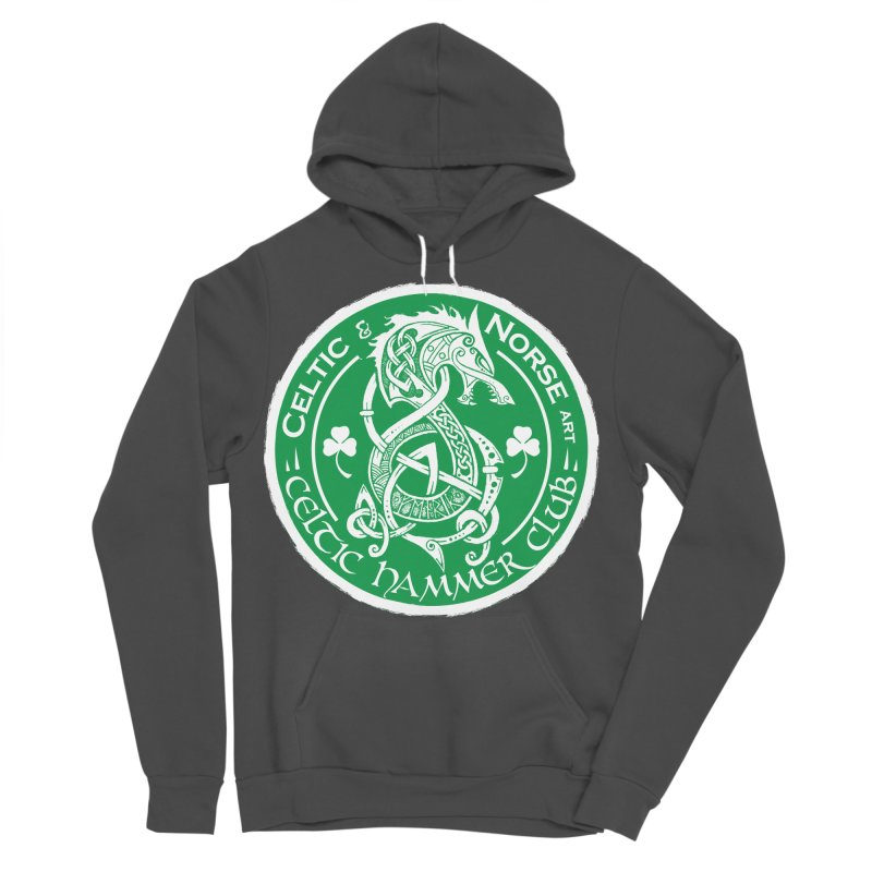 Celtic Hammer Club Irish Badge Logo Men's Sponge Fleece Pullover Hoody by Celtic Hammer Club