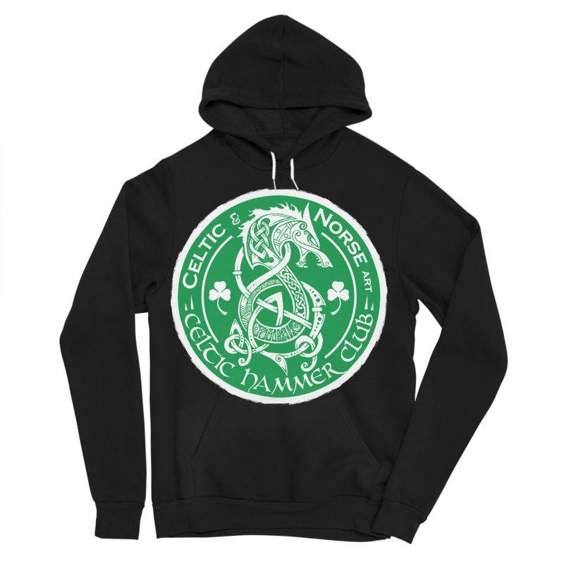 Celtic Hammer Club Irish Badge Logo Women's Sponge Fleece Pullover Hoody by Celtic Hammer Club