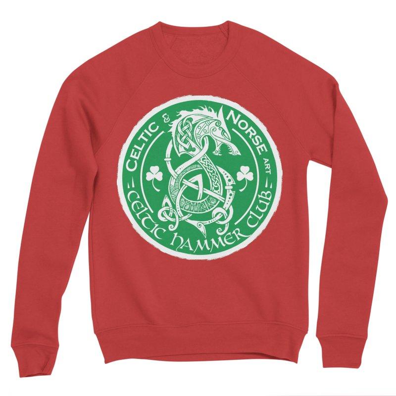 Celtic Hammer Club Irish Badge Logo Men's Sponge Fleece Sweatshirt by Celtic Hammer Club