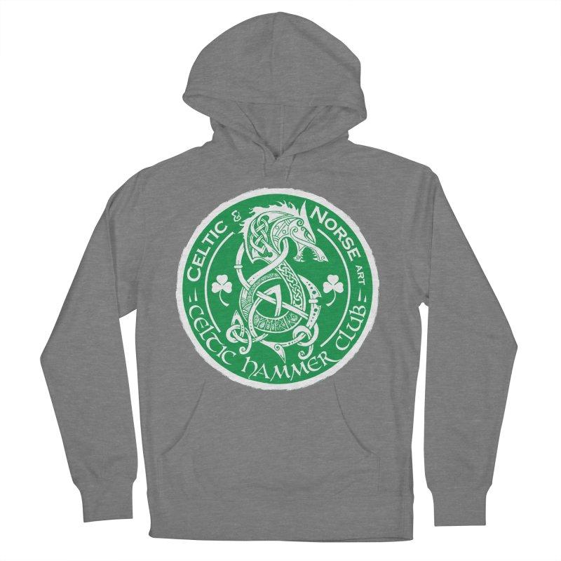 Celtic Hammer Club Irish Badge Logo Men's French Terry Pullover Hoody by Celtic Hammer Club