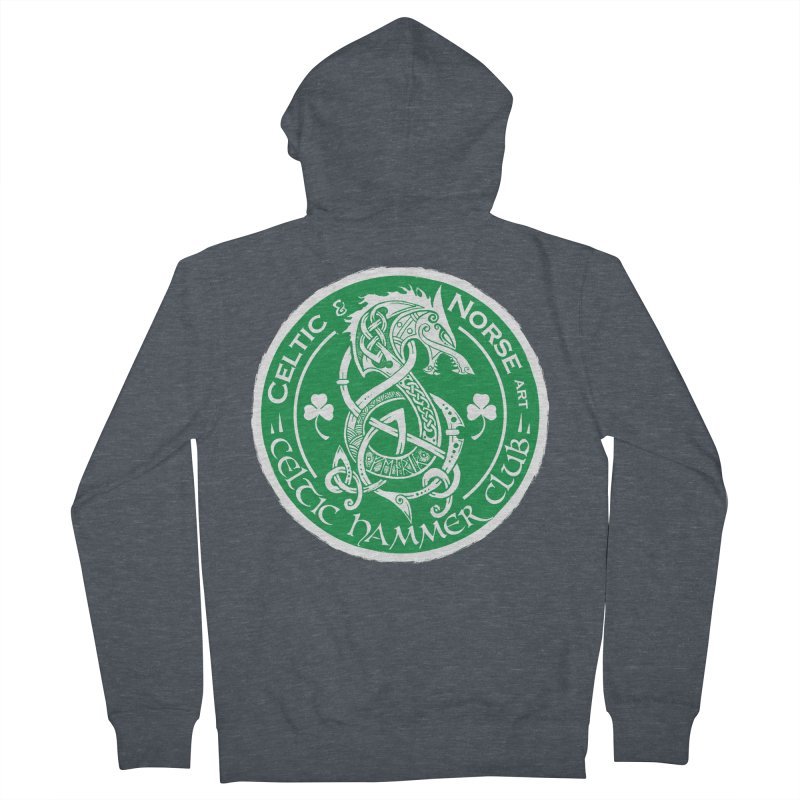 Celtic Hammer Club Irish Badge Logo Women's French Terry Zip-Up Hoody by Celtic Hammer Club
