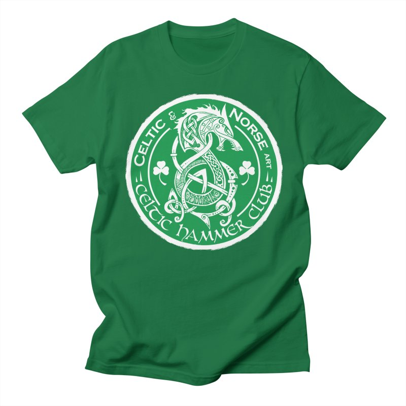 Celtic Hammer Club Irish Badge Logo in Men's Regular T-Shirt Kelly Green by Celtic Hammer Club