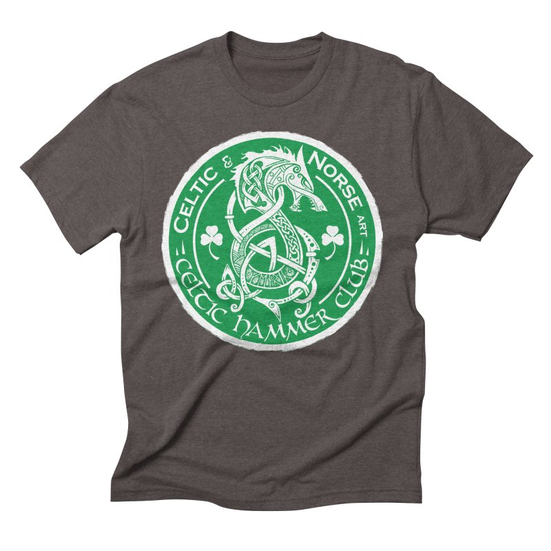 Celtic Hammer Club Irish Badge Logo Men's Triblend T-Shirt by Celtic Hammer Club