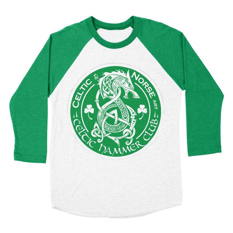 Celtic Hammer Club Irish Badge Logo Men's Baseball Triblend Longsleeve T-Shirt by Celtic Hammer Club