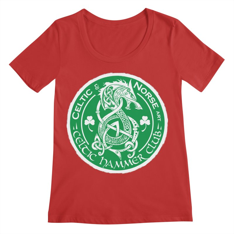 Celtic Hammer Club Irish Badge Logo Women's Regular Scoop Neck by Celtic Hammer Club