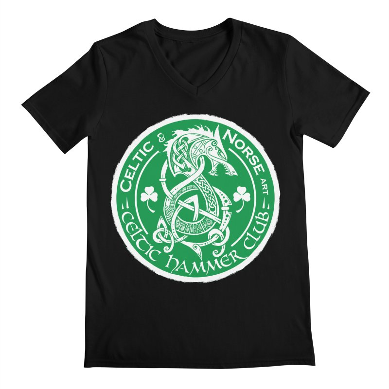 Celtic Hammer Club Irish Badge Logo Men's Regular V-Neck by Celtic Hammer Club