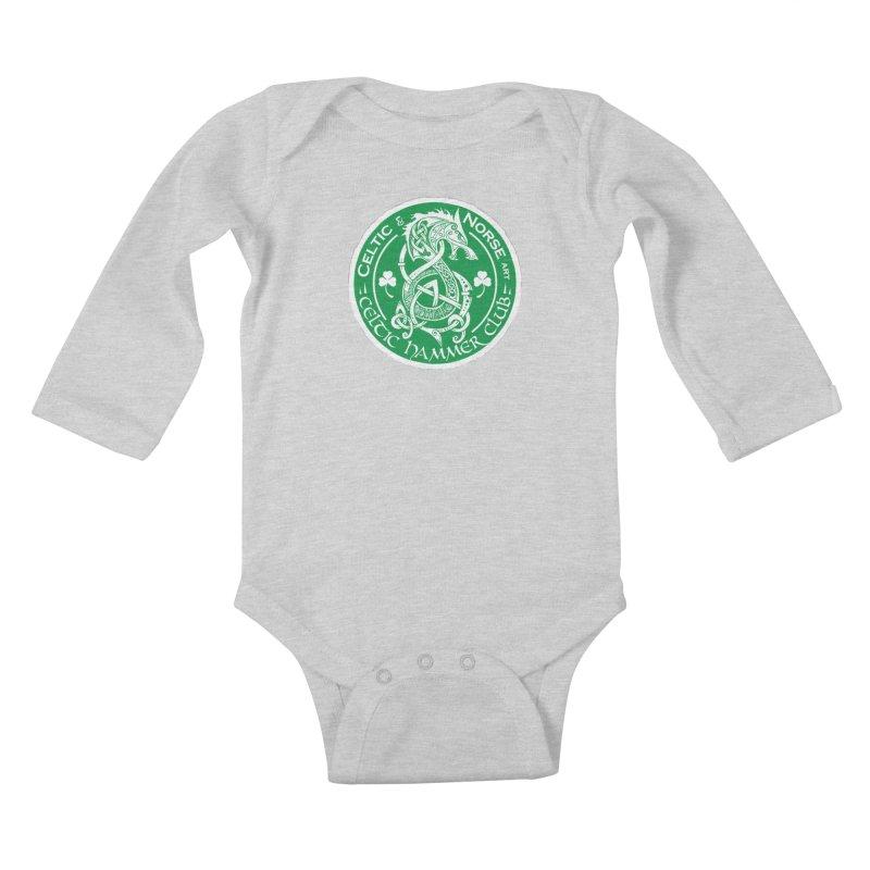 Celtic Hammer Club Irish Badge Logo Kids Baby Longsleeve Bodysuit by Celtic Hammer Club