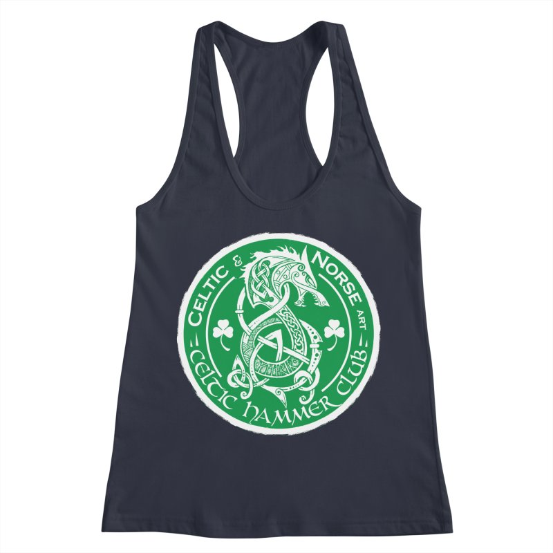 Celtic Hammer Club Irish Badge Logo Women's Racerback Tank by Celtic Hammer Club