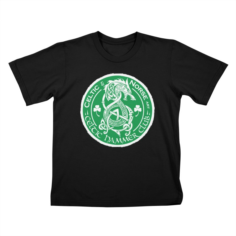Celtic Hammer Club Irish Badge Logo Kids T-Shirt by Celtic Hammer Club