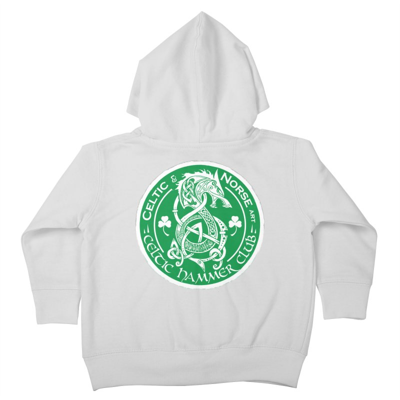 Celtic Hammer Club Irish Badge Logo Kids Toddler Zip-Up Hoody by Celtic Hammer Club