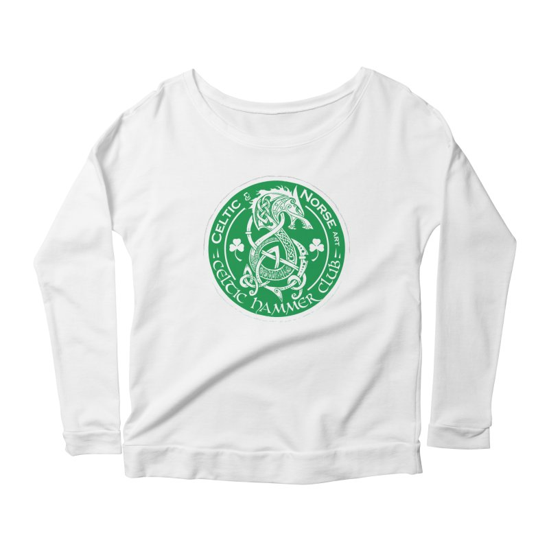 Celtic Hammer Club Irish Badge Logo Women's Scoop Neck Longsleeve T-Shirt by Celtic Hammer Club