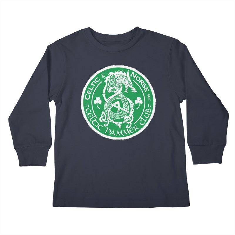Celtic Hammer Club Irish Badge Logo Kids Longsleeve T-Shirt by Celtic Hammer Club